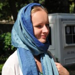 Tatiana at Blue Mosque - Istanbul, Turkey