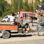 Rototiller sans blades with small trailer (Chinese style) - rural Turkey